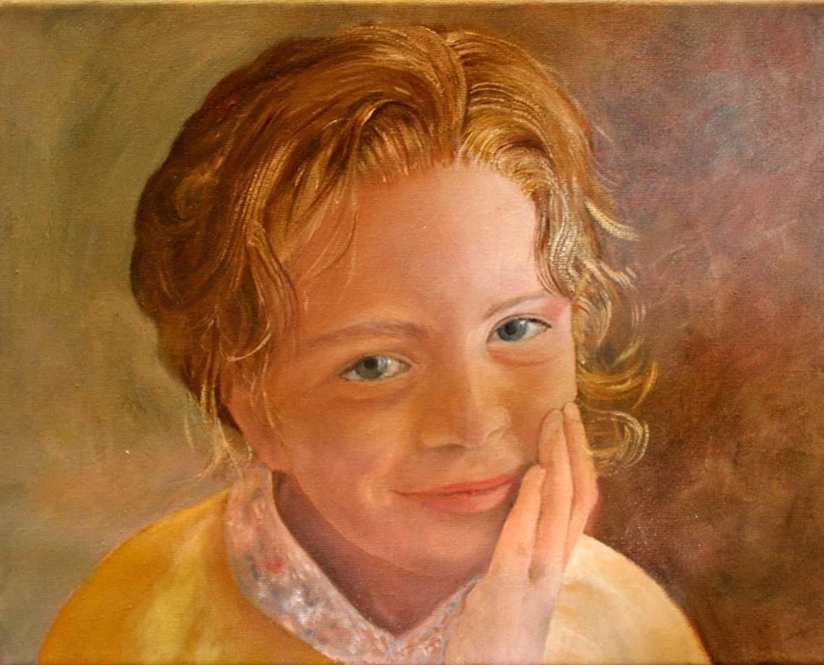 Portretschilderen In Olieverf Van Catherine Gathier