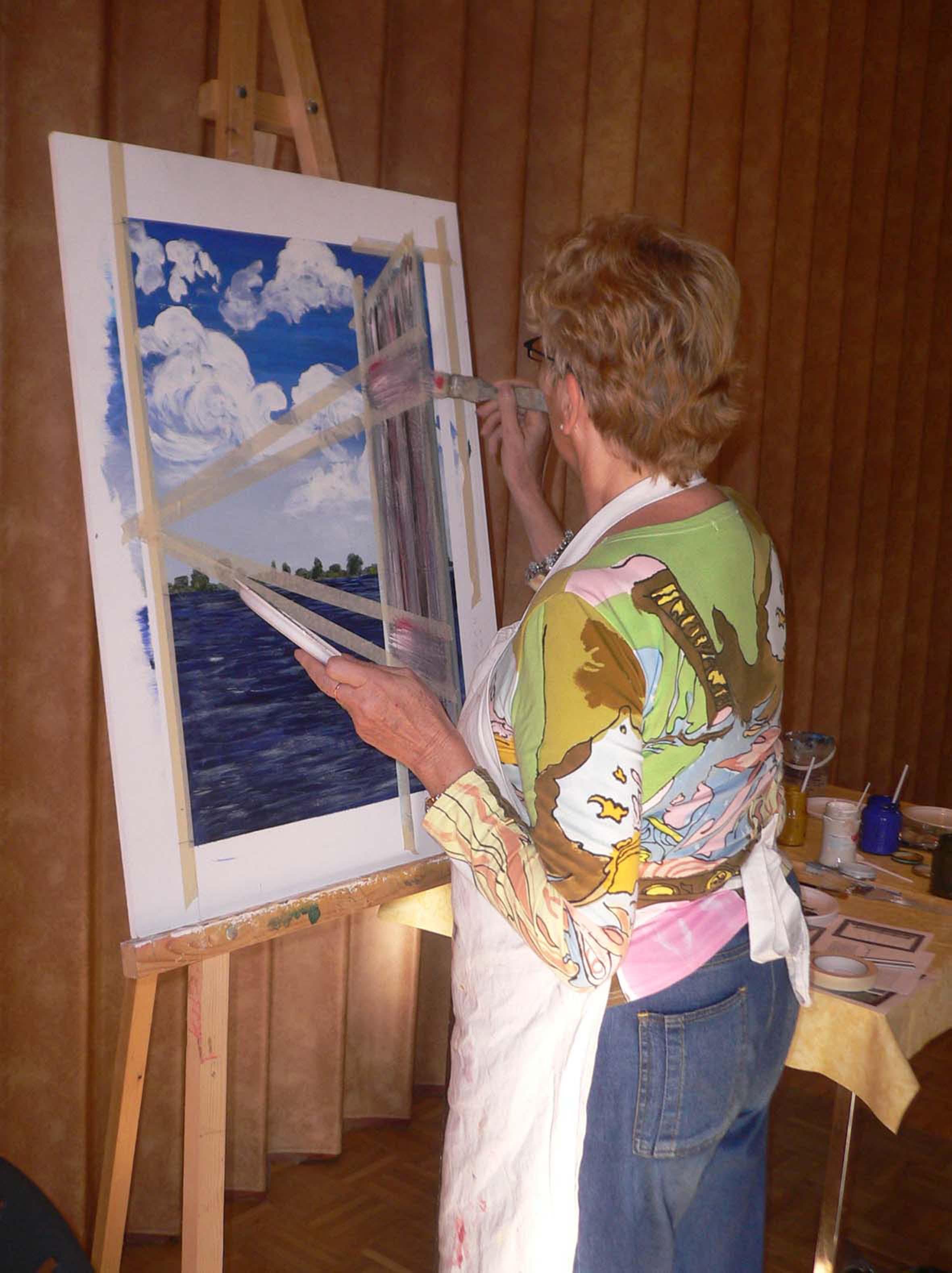 Ongekend Catherine Gathier verzorgt professionele schildercursus OB-35
